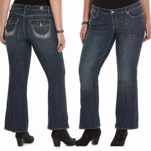 "Rock & Republic 10"" rise kasandra bootcut jeans 16"